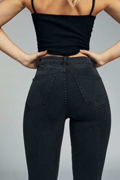 High Rise Cropped Skinny Jean, AXEL BLACK RIPS