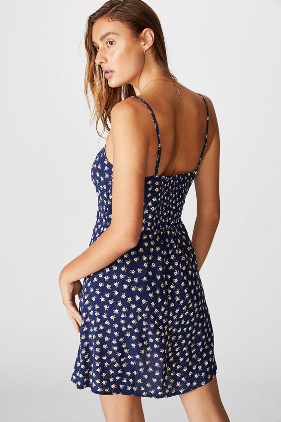 Woven Kendall Mini Dress, AIDAN DITSY MEDIEVAL BLUE
