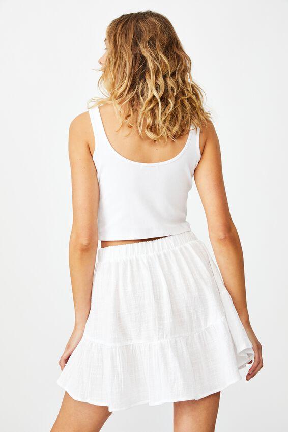 Spin Me Around Circle Skirt, WHITE