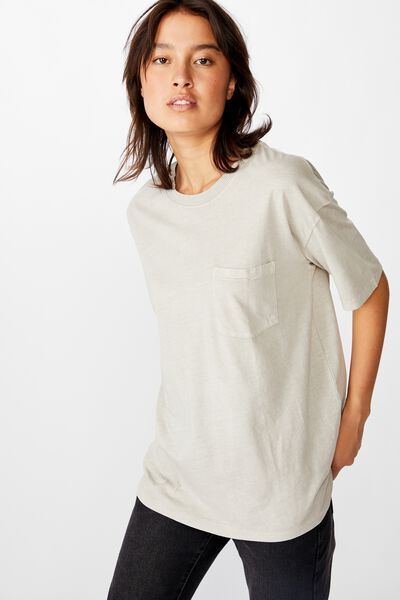 The One Boyfriend Crew Tee, WASHED GRAY MORN