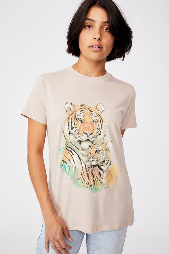 Classic Arts T Shirt, TIGER AND CUB/SILVER STONE