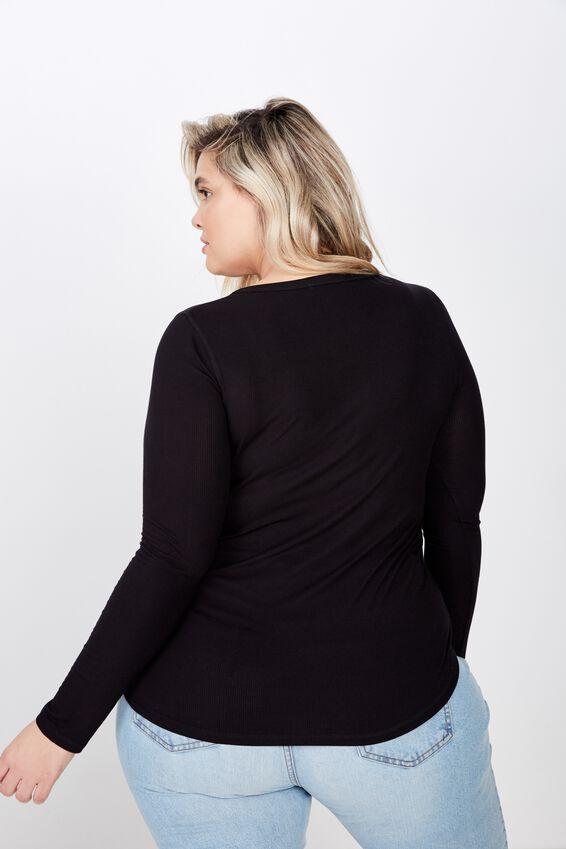 Curve Girlfriend Long Sleeve, BLACK
