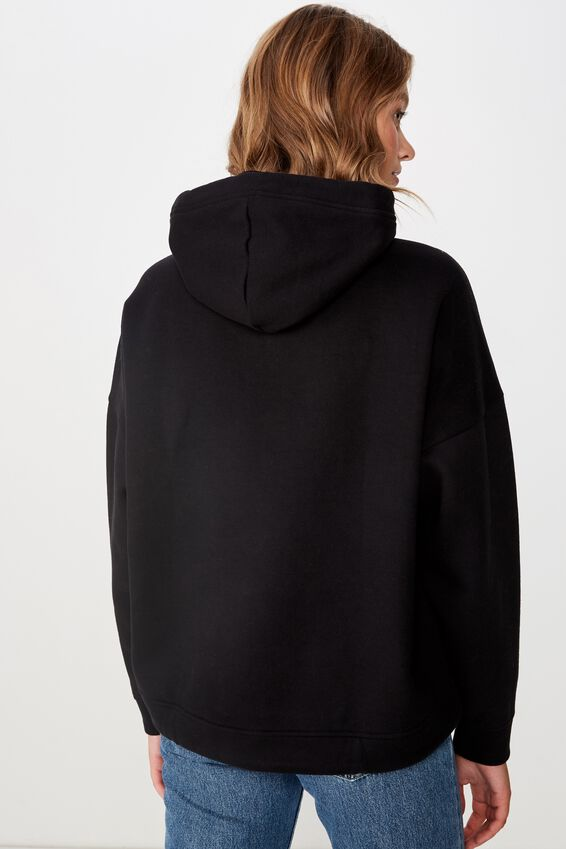 Maxie Oversized Hoodie, BLACK