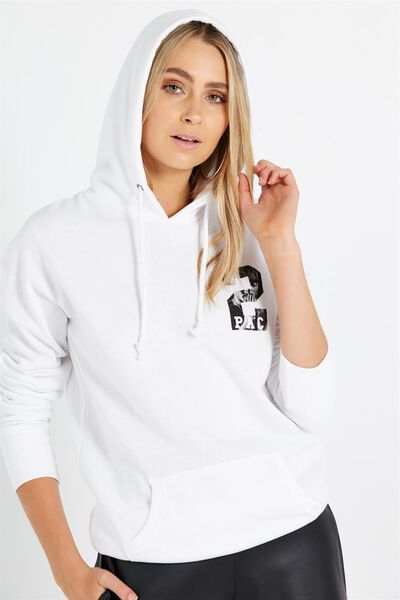 New Delevingne Graphic Hoodie 2, LCN TUPAC CHEST PRINT/WHITE