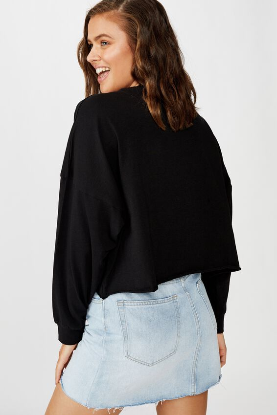 Tbar Brianna Graphic Long Sleeve, LCN WB FRIENDS LOGO/BLACK