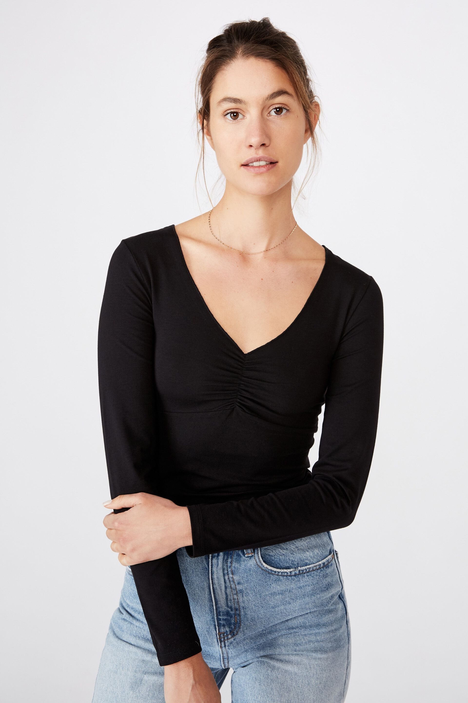 Fashion Face Women/'s Long Sleeve T-Shirt Cute Novelty Gift