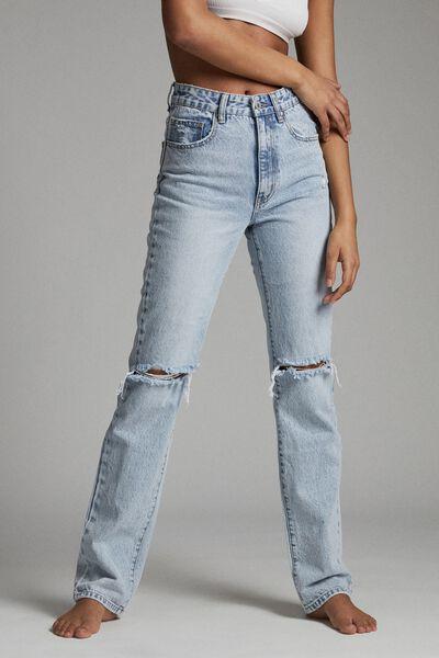 Long Straight Jean, BURLEIGH BLUE RIP