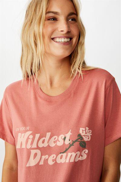 Classic Slogan T Shirt, WILDEST DREAMS/CANYON ROSE