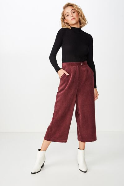 Nikki Culotte Pant, FIG CORD