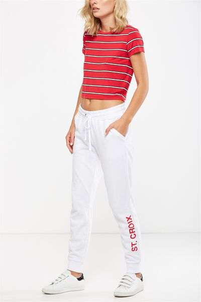 Adele Trackpant, WHITE/ST CROIX