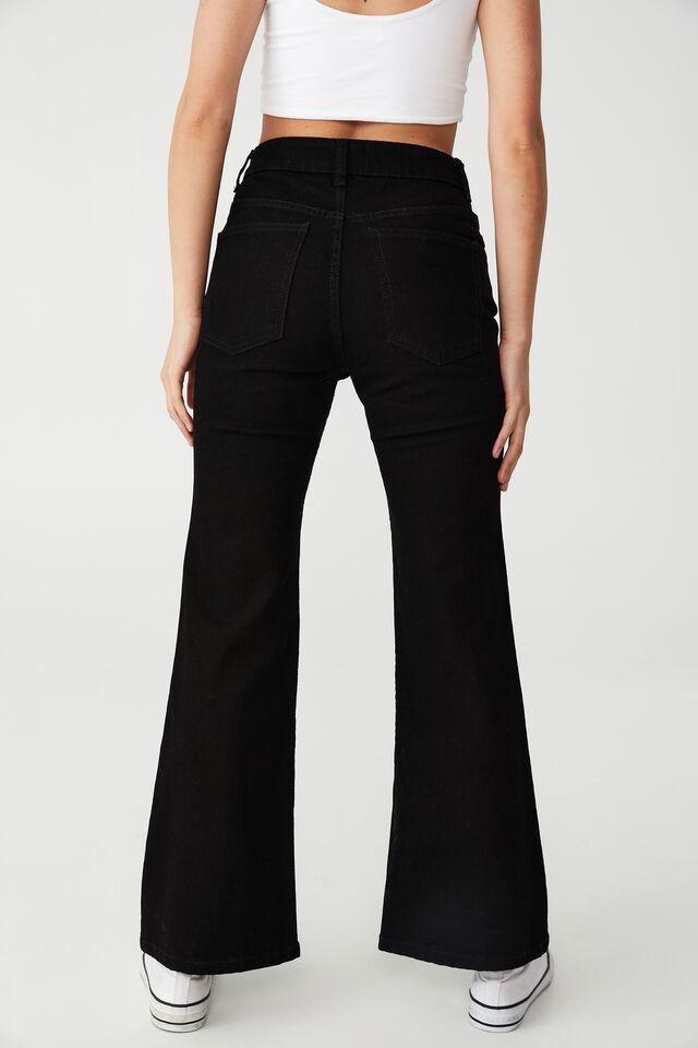 Petite Flare Jean, BLACK