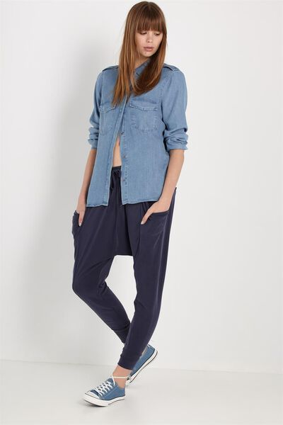 Slouch Jersey Pant, MOONLIGHT
