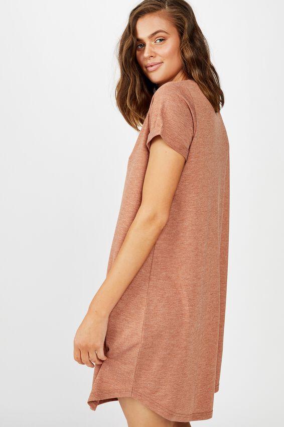 Tina Tshirt Dress 2, GLAZED GINGER MARLE