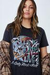 Classic Rolling Stones T Shirt, LCN BR STONES ROCK N ROLL/BLACK