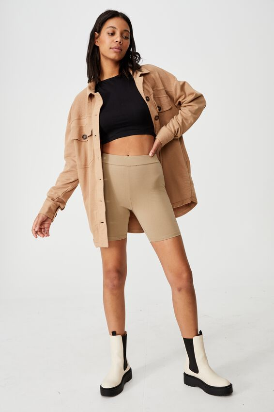 The Pip Jersey Bike Shorts, WASHED TAUPE