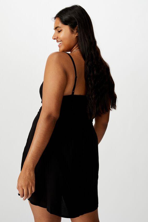 Curve Woven Kendall Dress, BLACK