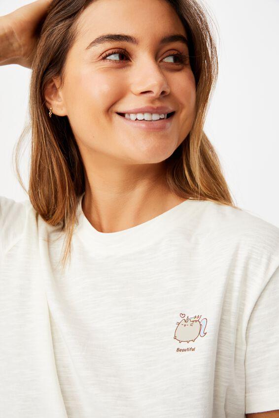 Classic Pop Culture T Shirt, LCN PUSH PUSHEEN UNICORN/BARLEY SLUB