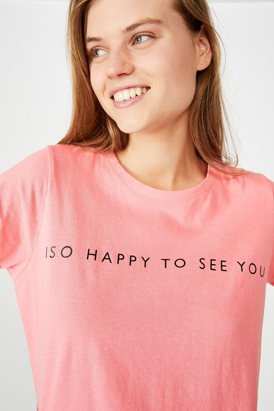 The One Personalised Crew Tee, WASHED VIBRANT ROSE