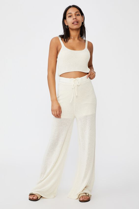 Match Me Knit Pant, SEASHELL WHITE