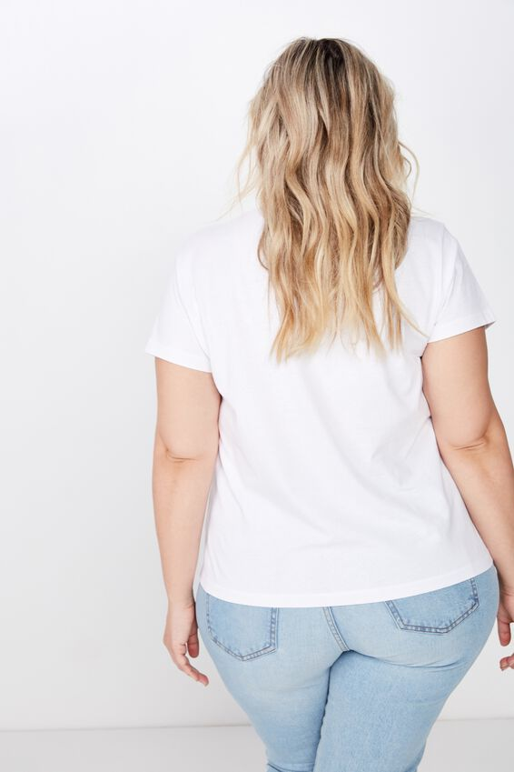 Curve Graphic Tee, JUST BREATHE/ WHITE