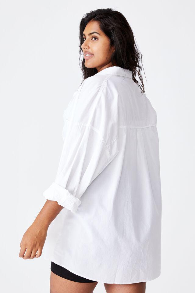 Curve Dad Shirt, WHITE