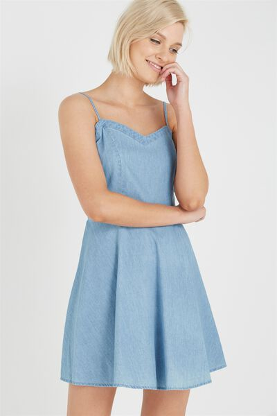 Woven Krissy Dress, CHAMBRAY