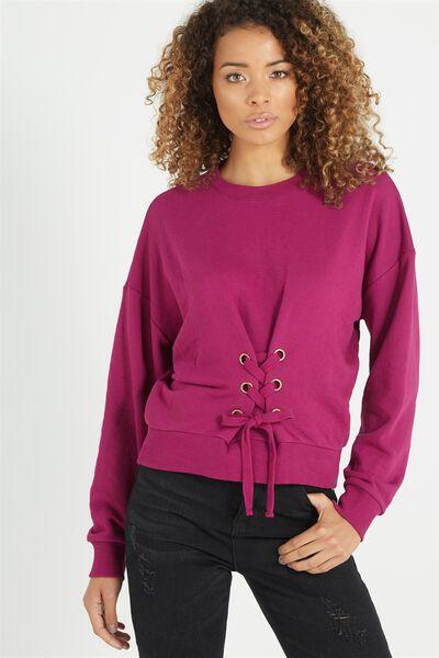 Cora Corset Sweater, ACAI