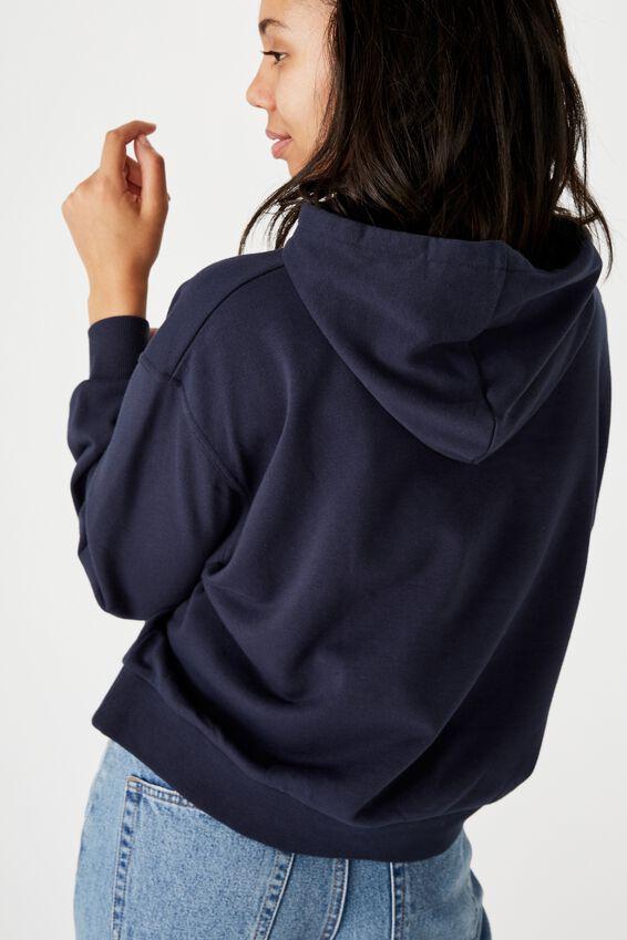 Harper Boxy Hoodie Graphic Fleece, MOONLIGHT DREAMER TOTAL ECLIPSE