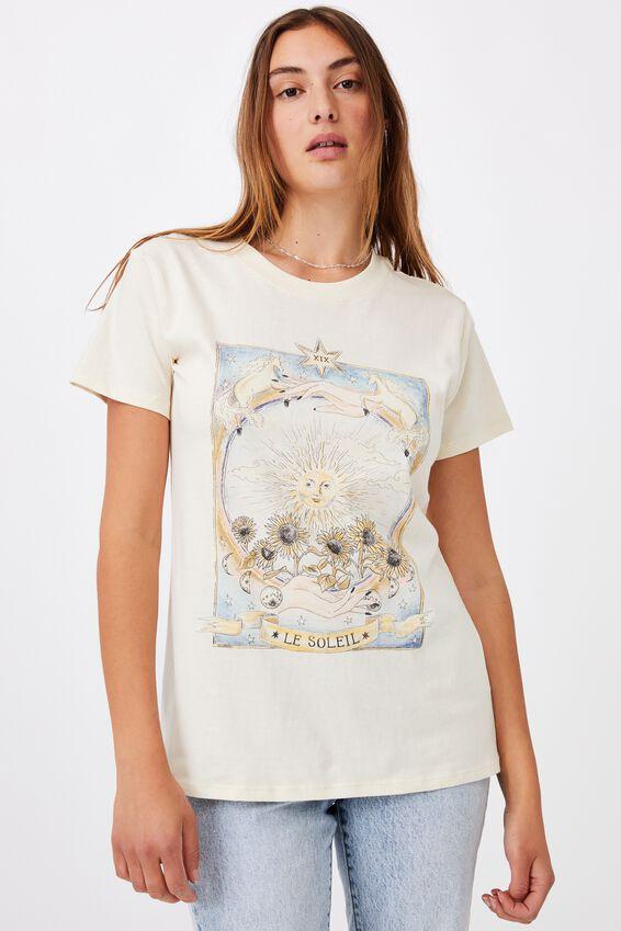 Classic Arts T Shirt, LE SOLEIL TAROT/SUGAR COOKIE