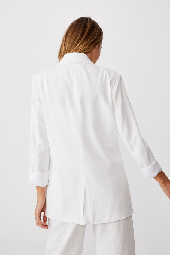 Ultimate Linen Blazer, WHITE