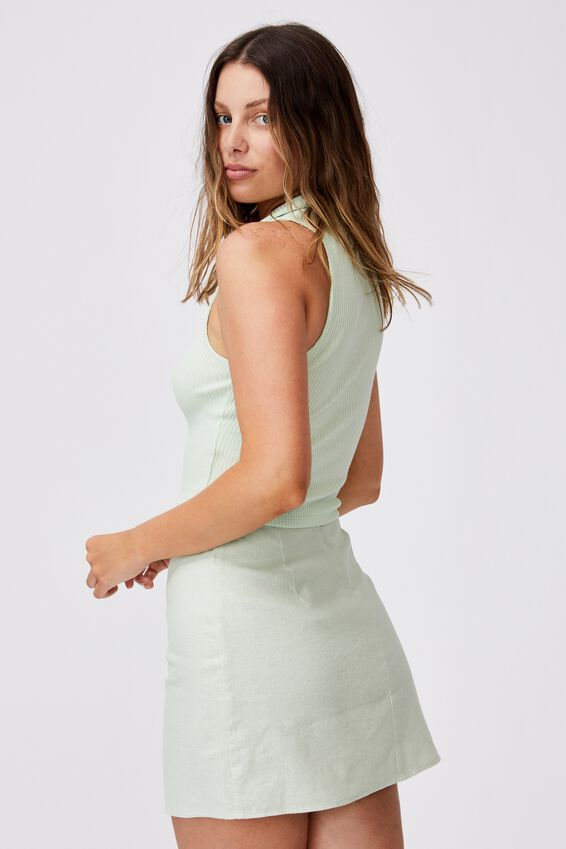 Ultimate A Line Mini Skirt, SPRING MINT