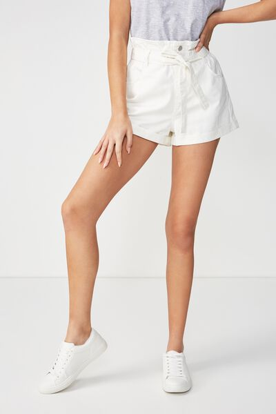 Paperbag Short, WHITE