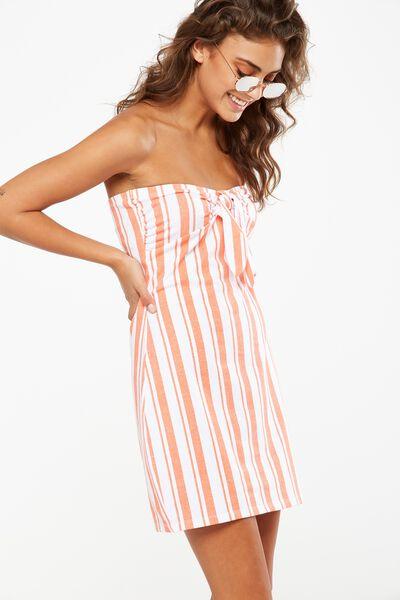 Holly Bandeau Dress, CHLOE STRIPE EMBERGLOW