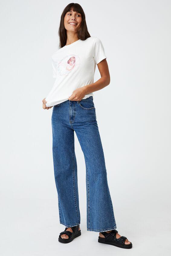 Classic Arts T Shirt, MOON CHERUB/VINTAGE WHITE