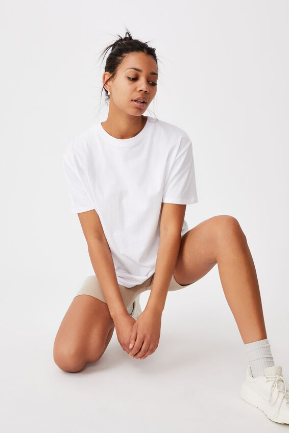 The Oversized Dad Tee, WHITE