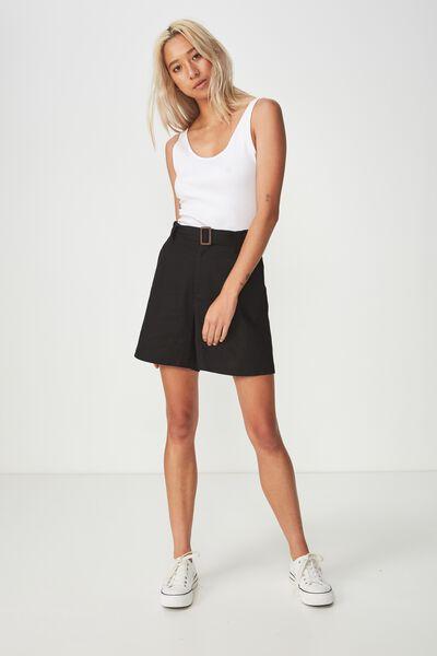 Layla Longline Short, BLACK