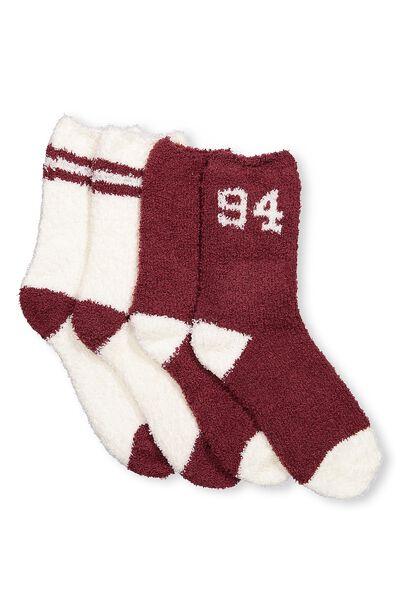 2Pk Cosy Lounge Sock, 94