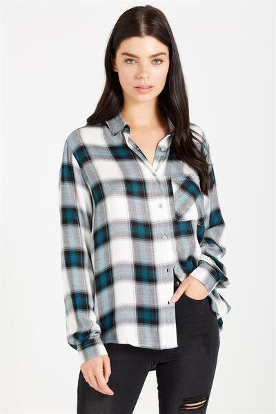 Brooklyn Shirt, SHADED SPRUCE CHECK