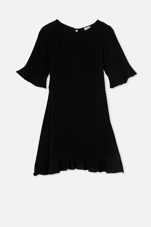 Woven Thelma Retro 3/4 Slv Fit And Flare Shift Min | Cotton On