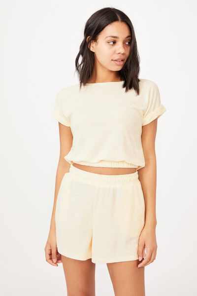 Terry Towelling Short, SEASHELL WHITE