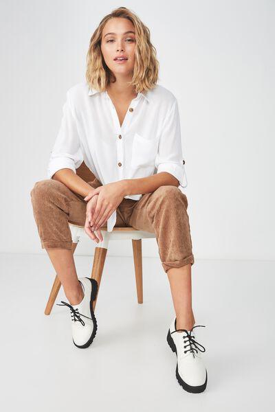 Serena Tie Front Shirt, WHITE Y