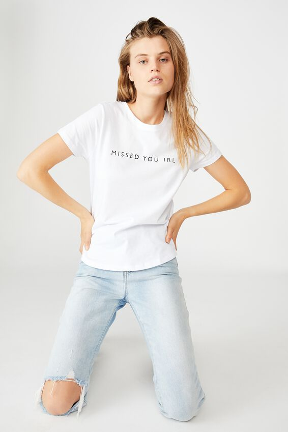The One Personalised Crew Tee, WHITE
