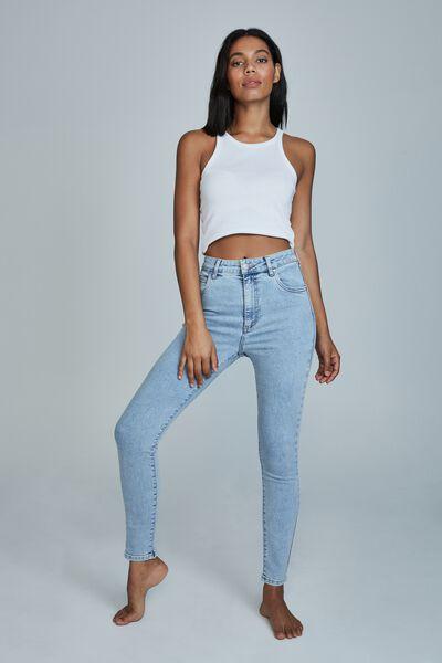 High Rise Skinny Jean, LENNOX BLUE