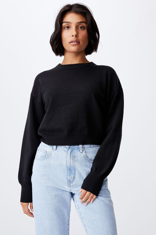 Easy Crew Pullover, BLACK