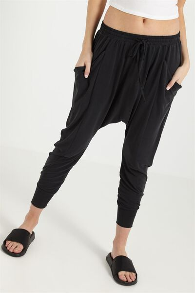 Slouch Jersey Pant, BLACK