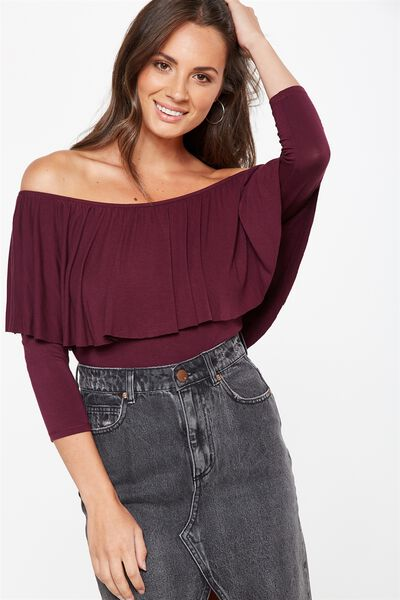 Polly Off The Shoulder Long Sleeve, WINETASTING