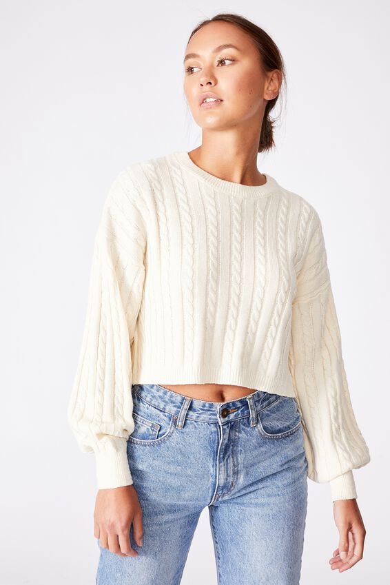 Cable Co-Ord Pullover, VINTAGE CREAM