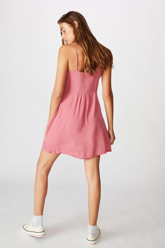 Woven Kendall Mini Dress, ROSE WINE