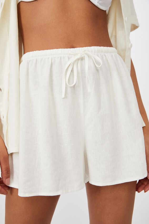 Cali Pull On Short, CHALK WHITE