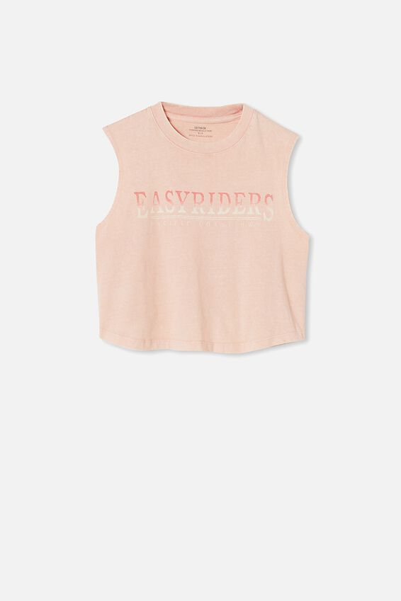 Marley Graphic Muscle Tank, EASY RIDERS/SUGAR PINK